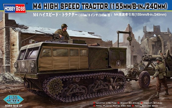 M4 HIGH SPEED TRACTOR 1/35 Hobby Boss HIGH%20SPEED%20TRACTOR%20M4
