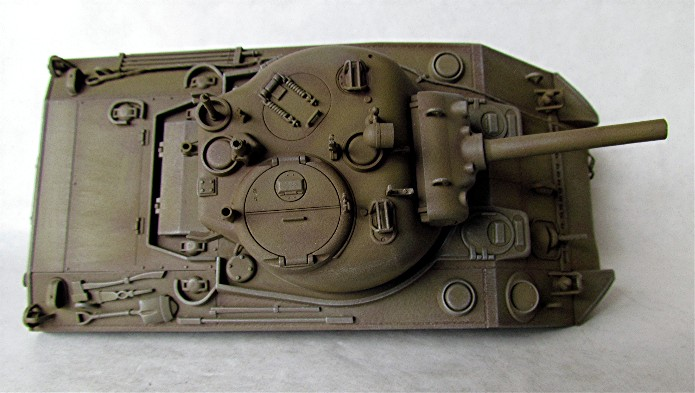 SHERMAN M4 105 MM 1/35 conversion châssis Tamiya et tourelle Accademy FINI IMG_0572