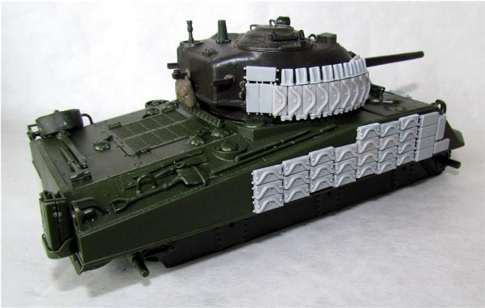 Sherman M4A2 base Accademy tourelle Tamiya 1/35 FINI IMG_0391
