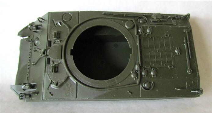 Sherman M4A2 base Accademy tourelle Tamiya 1/35 FINI IMG_0360
