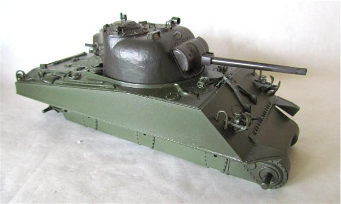 Sherman M4A2 base Accademy tourelle Tamiya 1/35 FINI IMG_0365