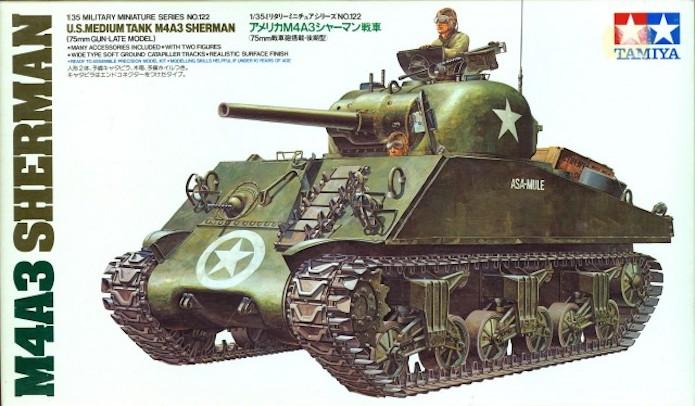 Sherman M4A3 75mm 1/35 base Tamiya SHERMAN%202