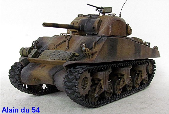 Sherman M4A3 75mm 1/35 base Tamiya Sm3
