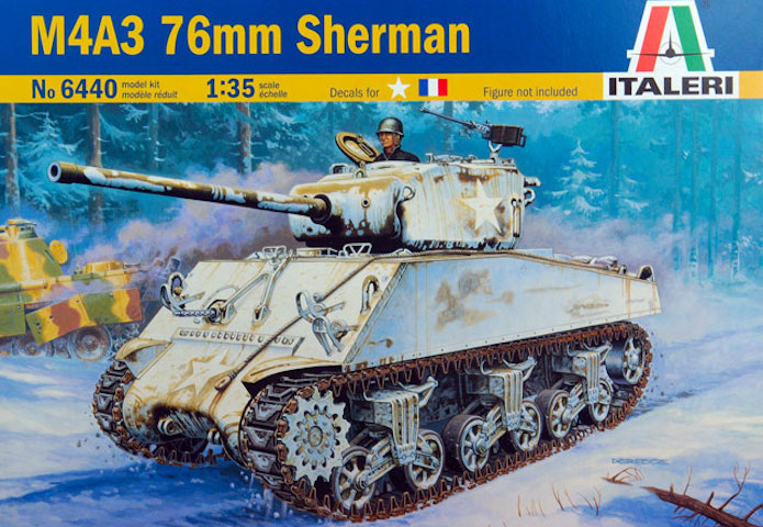 Sherman M4A3 76mm 1/35 Italeri 1