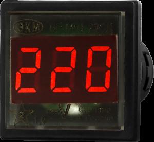 Cамый маленький щитовой цифровой вольтметр ВР-М01-29 Vr-m01-29cd