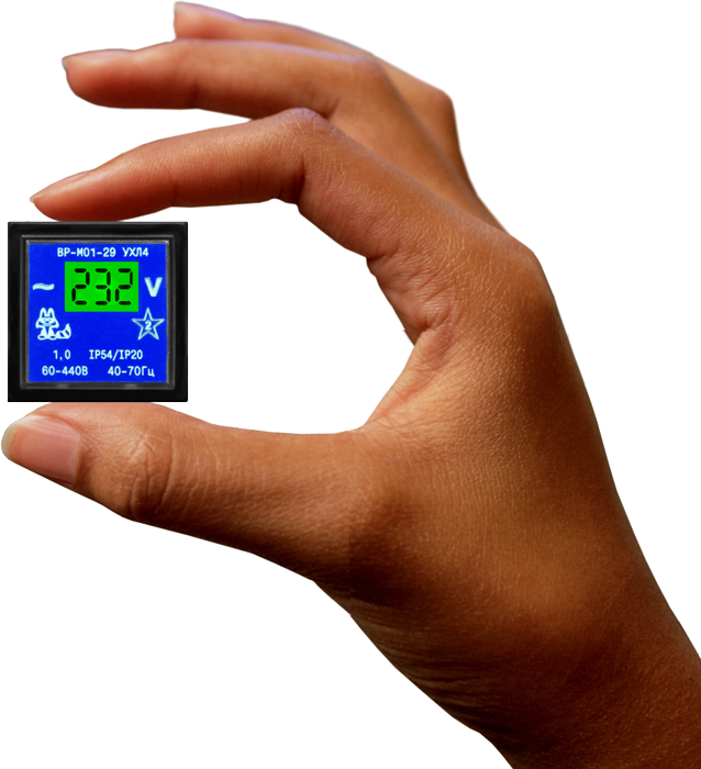 Cамый маленький щитовой цифровой вольтметр ВР-М01-29 VR_29new