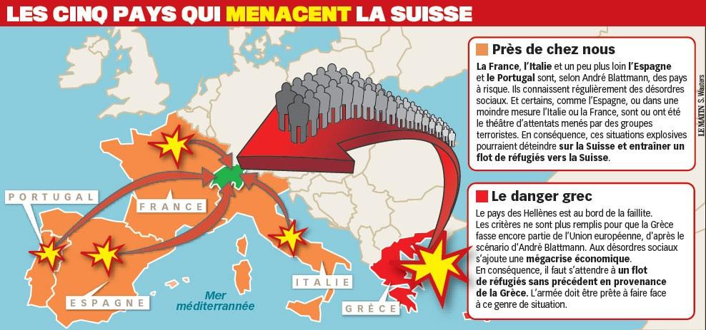 selon - Selon le chef de l'Armée, la crise de la dette de l'UE constitue la menace principale pour la Suisse Troubles-emeutes-menaces-suisse-andrc3a9-blattmann