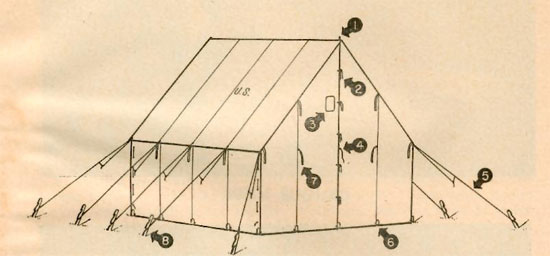 [REF] Tent, Fire-Resistant, Wall, Small, Olive Drab (Stock No. 24-T-323) Small