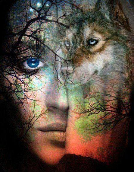 woman and wolf 3ec0c0d07220603c6856d792322940c9