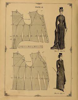 [XIX Tournures Queue d'écrevisse] Diagramme robe 1882 5e097e1eae85293a54cdc081a27415d2