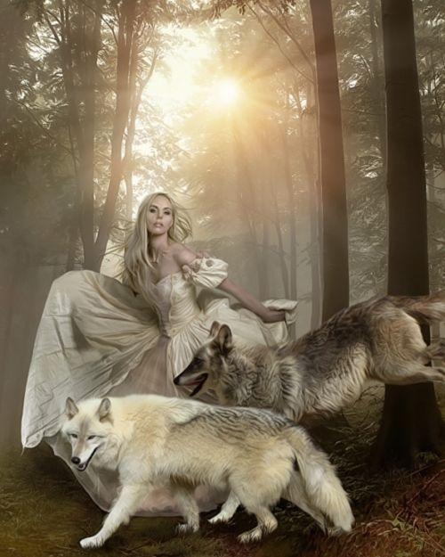 woman and wolf A0d79f7b53c0e4737d06df1f5d06cd2e