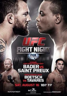UFC Fight Night 47: Bader vs. Saint Preux 498481cd43c93610934cbe221060c1ed