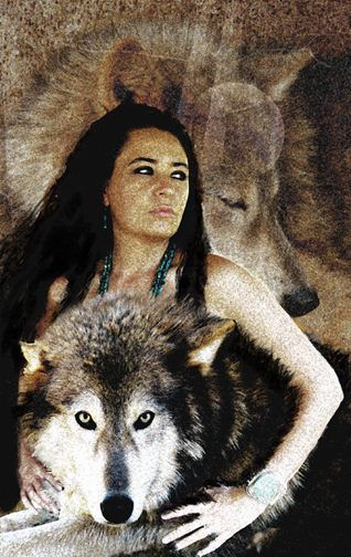 woman and wolf 05e647580f59fc354860d29df92a740e