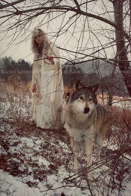 woman and wolf 195d267b3016f925d20909b438fffc83