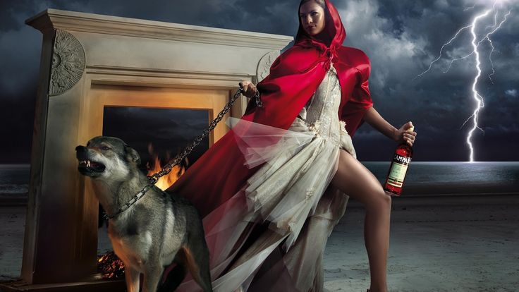 woman and wolf 2f174bfd629d4a690fa1091fb4ba7b59
