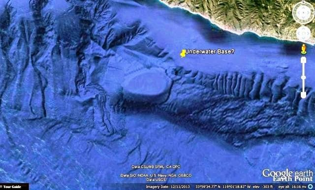 Massive underwater entrance discovered off the California Coast – May 22, 2014 A massive underwater entrance has been discovered off the Malibu, CA coast at Point Dume which appears to be the Holy Grail of UFO/USO researchers that have been looking for it over the last 40 years.