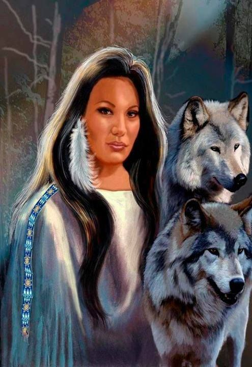 woman and wolf 5d7c998f8692bc2ca6783c57aacd8cc4