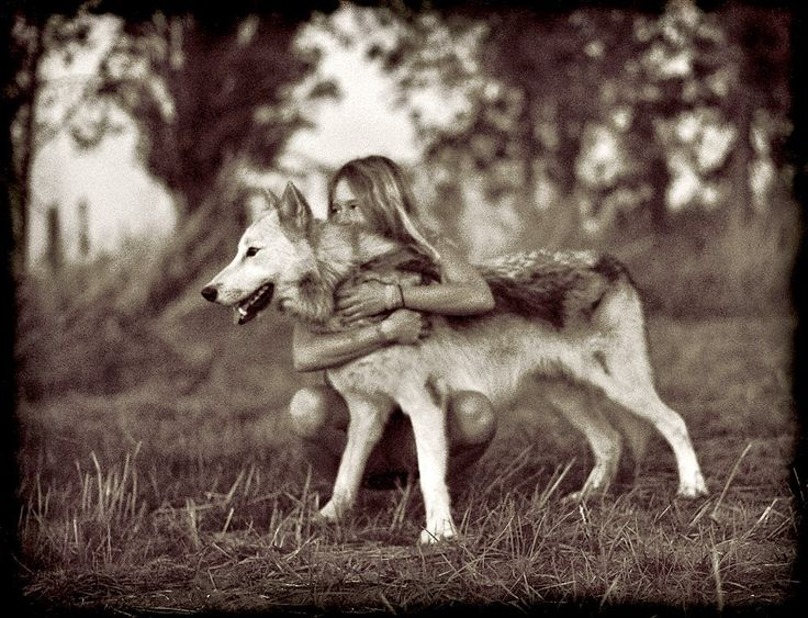 woman and wolf 91391ba3c0917346a46639ea9854582a