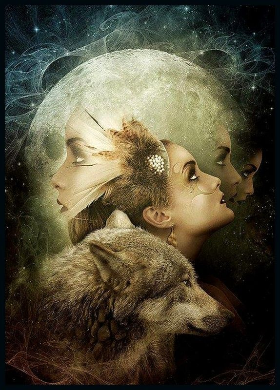 woman and wolf D3e62c11594c4c73292c7b476329b2a7