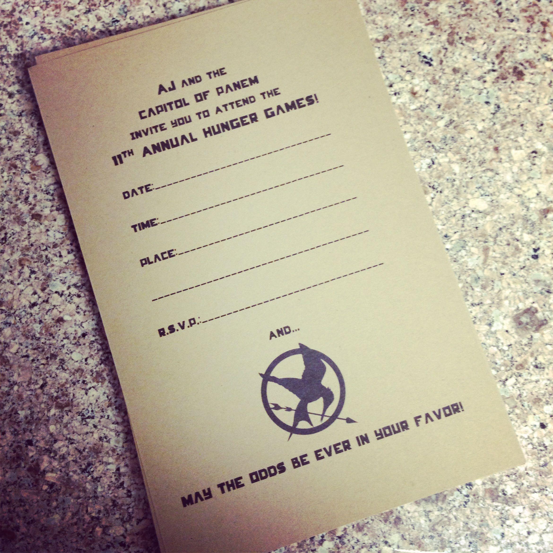 Hunger Games Party !  3b4c5c49ea9eebba81eed0ca83a97cbd