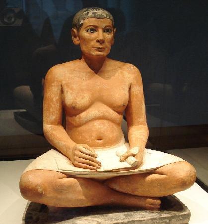 Carré magique Scribe-assis-egypte