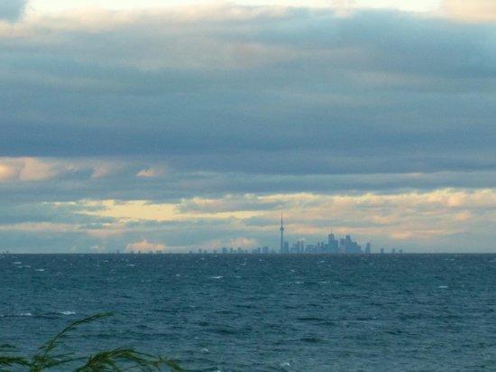 Flat Earth Enlightenment From Lighthouses Toronto-skyline-across