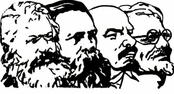 ¿qué simbolos son propios del trotskismo? - Página 2 Marx_engels_lenin_trotsky