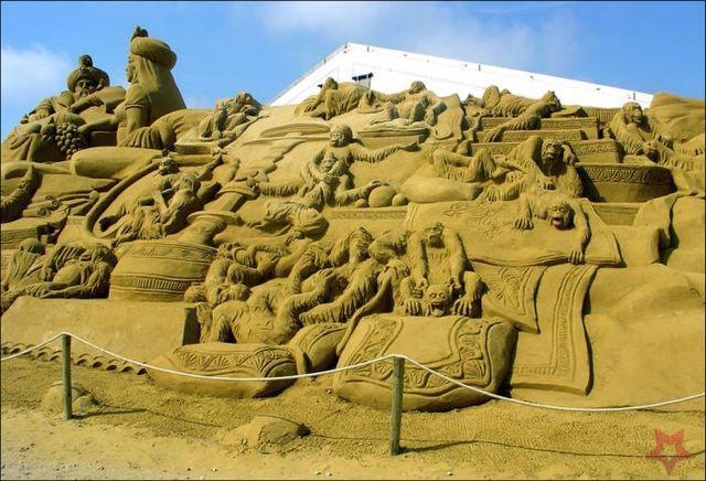 Un Art Ephémère Sculpture-sur-sable-28