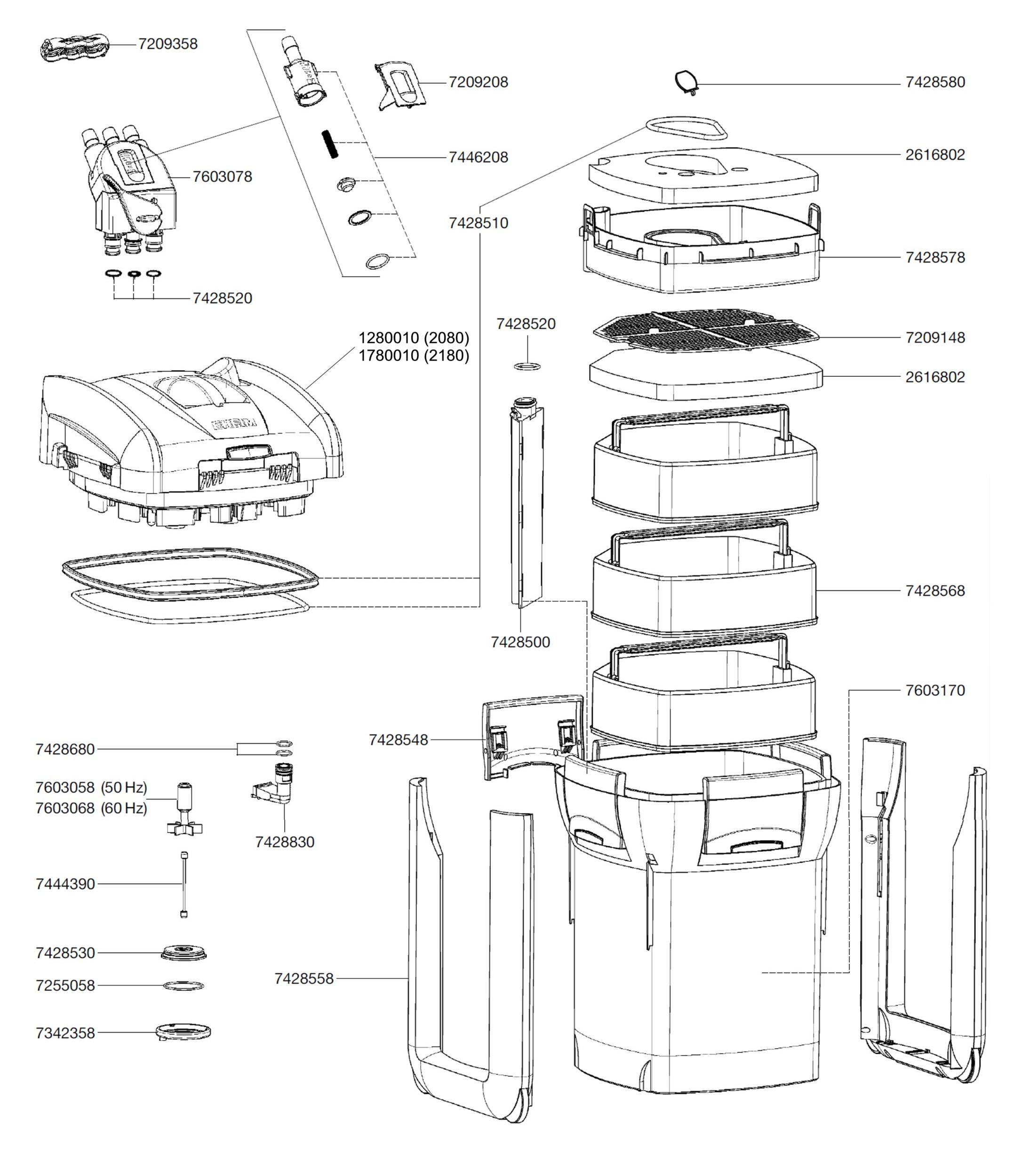 COUDE 2080 Pieces-detachees-eheim-2080-2180