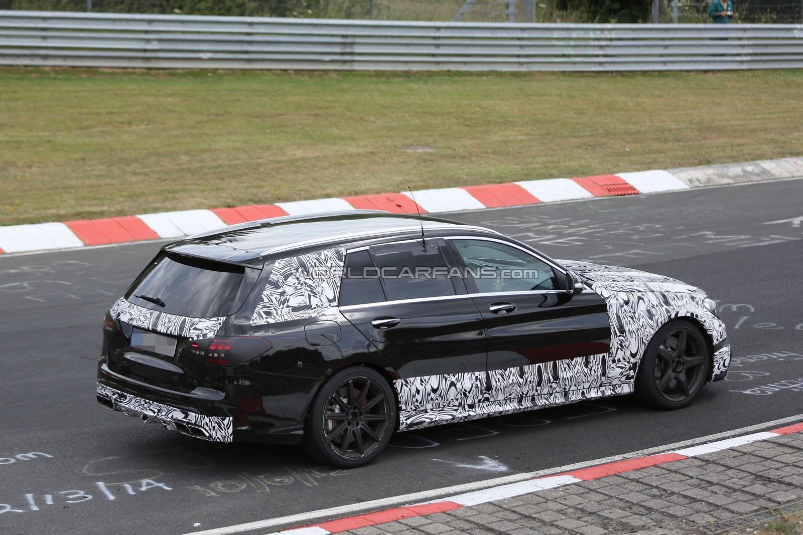(S205): Protótipos da C63 flagrados em testes em Nürburgring C63-amg-estate-6-30-7