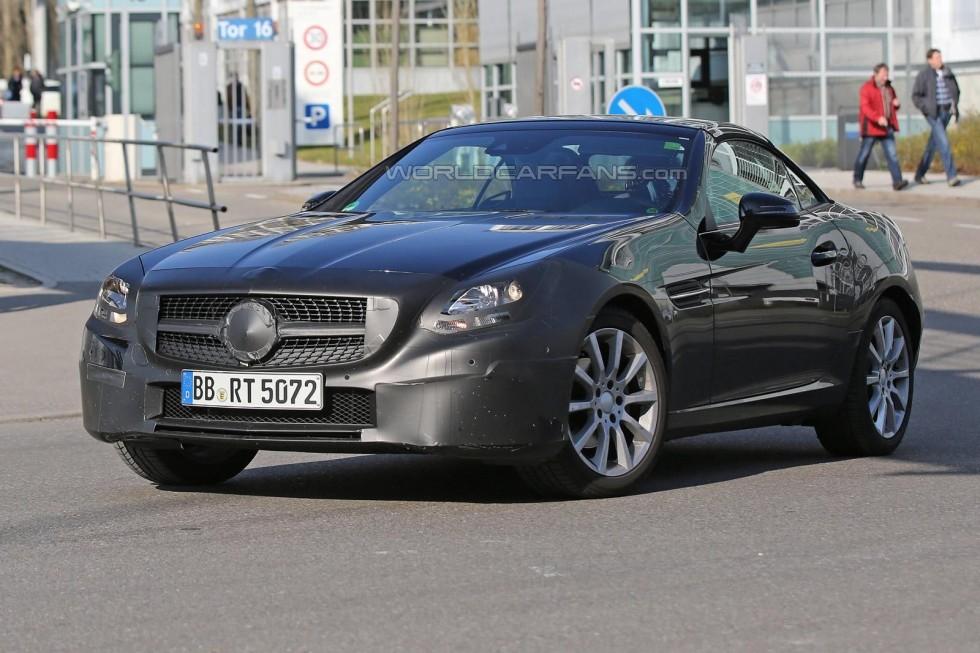 (R172): SLK (SLC) para 2016 é flagrada em testes Mercedes-benz-slc-4-16-1-980x653