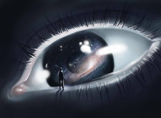 Images Zen - Page 2 Oeil-homme-galaxie