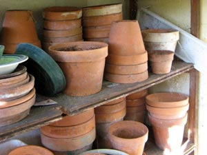 Offrande aux Gnomes Pots-terre-cuite