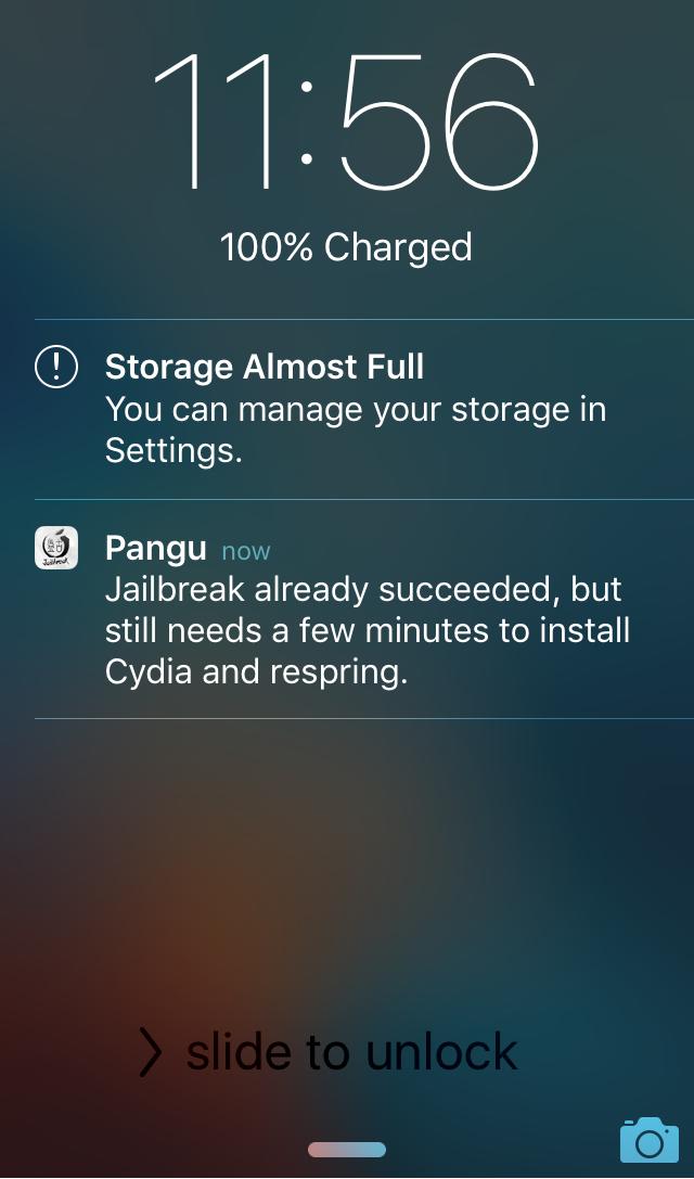 Pangu 1.1 Jailbreak For iOS 9.3.3 Released With 'Embedded Certificate' Option Pangu-Jailbreak-Lock-Screen-Notifications
