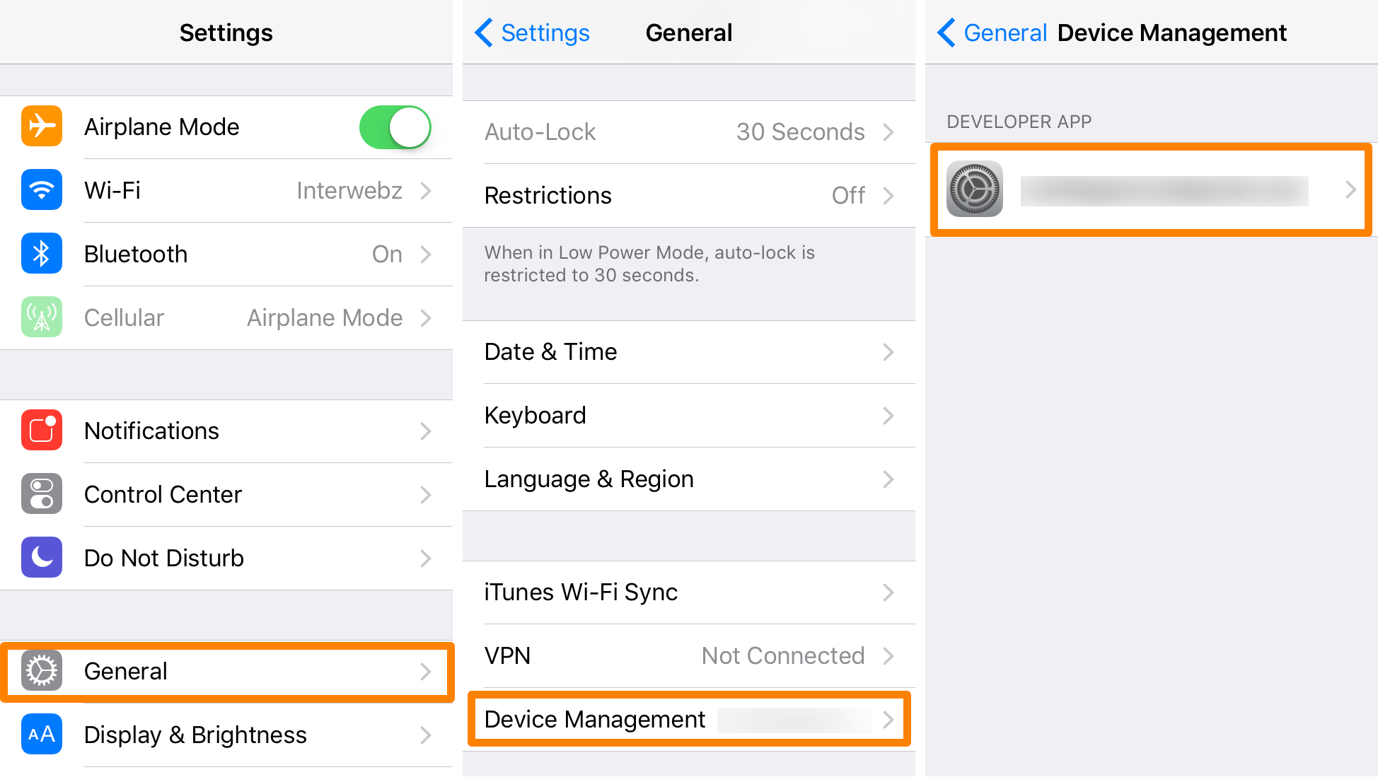 Pangu 1.1 Jailbreak For iOS 9.3.3 Released With 'Embedded Certificate' Option Pangu-Settings-Device-Management