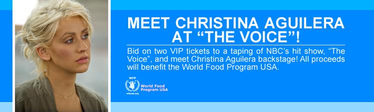 [Tweet] Christina Aguilera twittea informando de su programa contra el hambre World_Food_AMP_banner