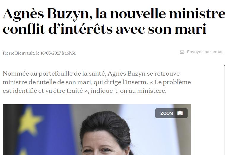 Qui est Emmanuel Macron ? - Page 8 Agnes-buzyn-conflit-interet-inserm