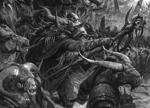 [Warhammer Fantasy Battle] Images diverses - Page 2 Beastmen-charge-alex-boyd