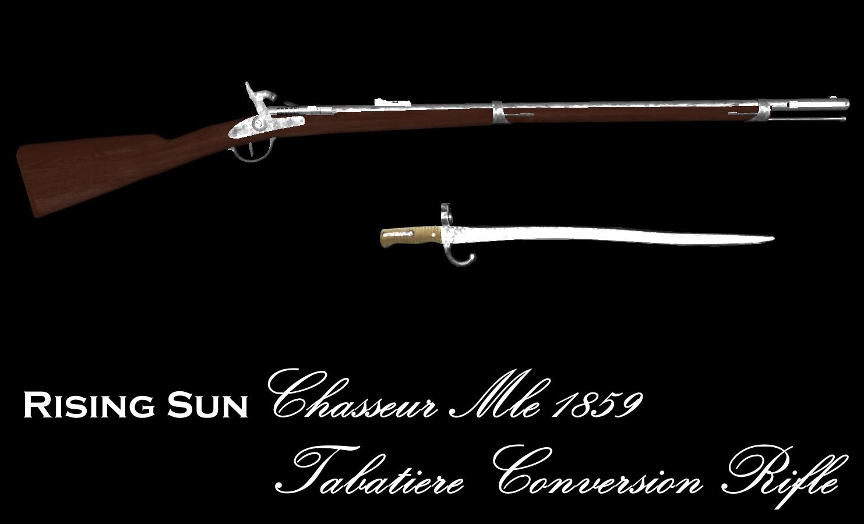 [SP][EN] Rising Sun: Bakumatsu Mle_1859_Chasseur_Tabatiere_Rifle