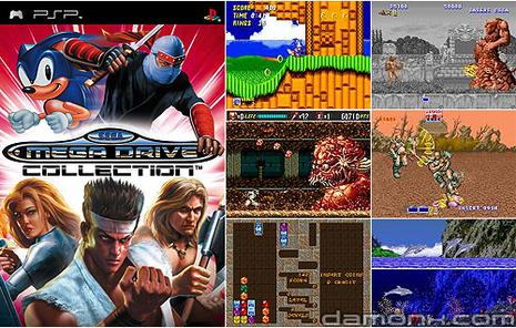 Sega Mégadrive collection et ses jeux Sonic. Commande-sega-megadrive-collection-sur-psp-L-1