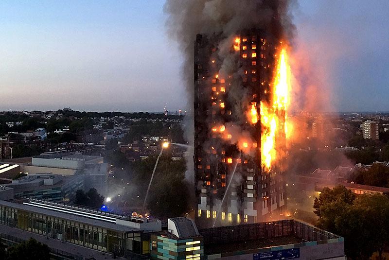 Aislante de edificios London-Fire