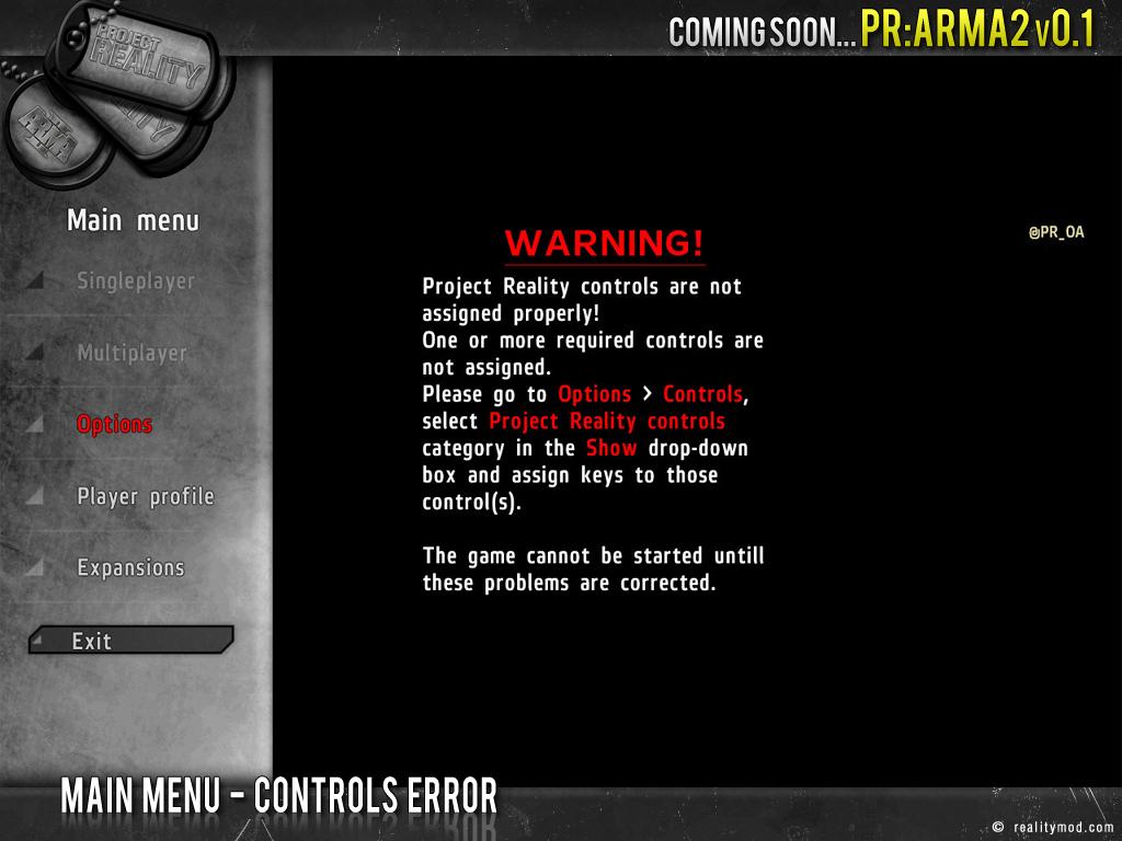 PR [ArmA 2] - Highlights Reel #3 Pr_mainmenu_error