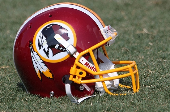 Where did all the hats go? Redskins-helmet