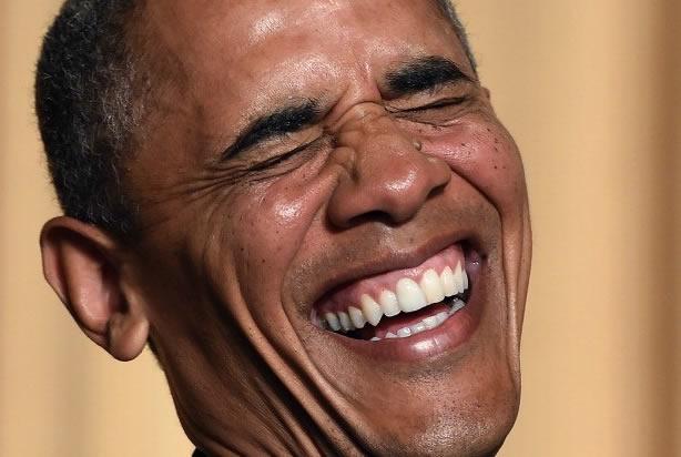 Barrack Obama - CIA Agent & Manchurian Candidate Barack-obama-laughing