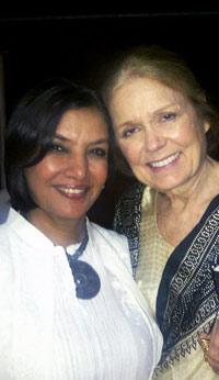 Shabana Azmi Meets Her Role Model Gloria Steinem Shabana3