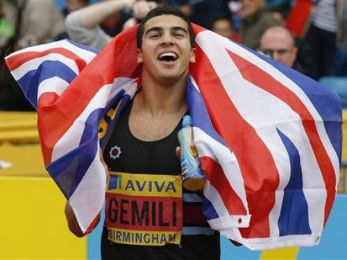18 year old Adam Gemali excited at racing Bolt & Blake in London 2012-07-03T194332Z_1_CBRE8621ISS00_RTROPTP_2_BRITAIN