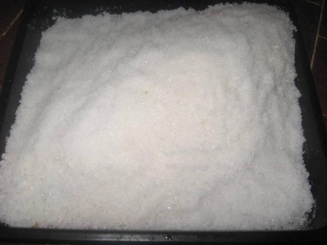 Печена риба в морска сол. 017826145