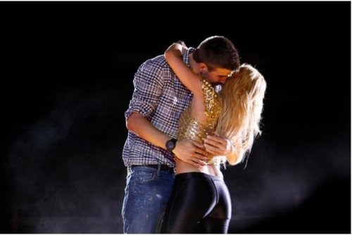 Shakira and Pique. Tumblr_llzf0hhp5B1qiucq4