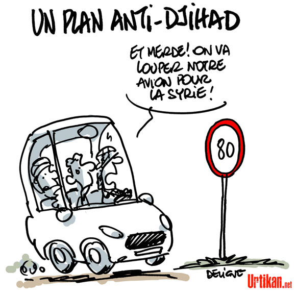 A RIRE OU EN PLEURER OU REVUE DE PRESSE SATIRIQUE - Page 5 140422-djihad-deligne