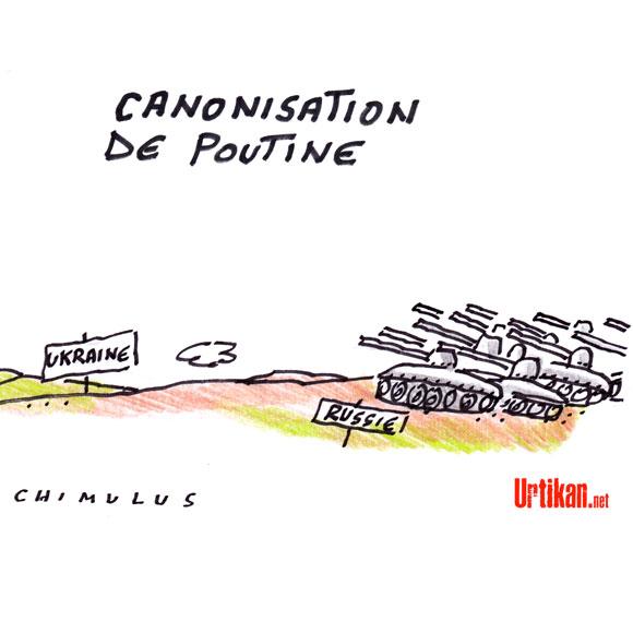 A RIRE OU EN PLEURER OU REVUE DE PRESSE SATIRIQUE - Page 5 140426-canonisation-de-poutine-chimulus